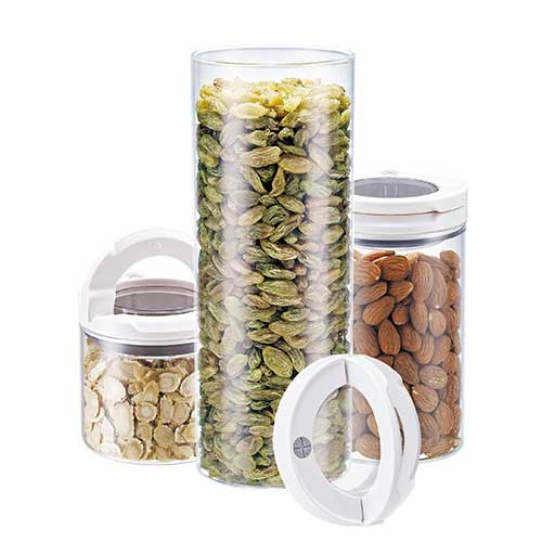D736 Glass airtight Canister set