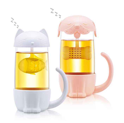 D826 Adorable Tea Cup With Infuser